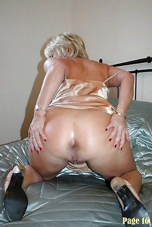 Grannys in satin lingerie